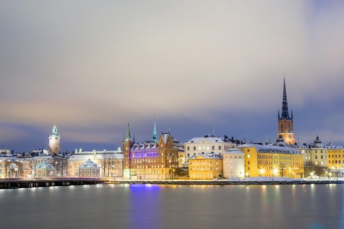 Vinylová Tapeta Město Staré Město Stockholm - Evropa