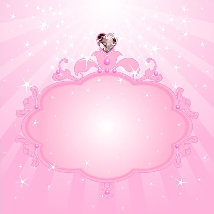 Vinylová Tapeta Princess růžový rámeček - Pozadí