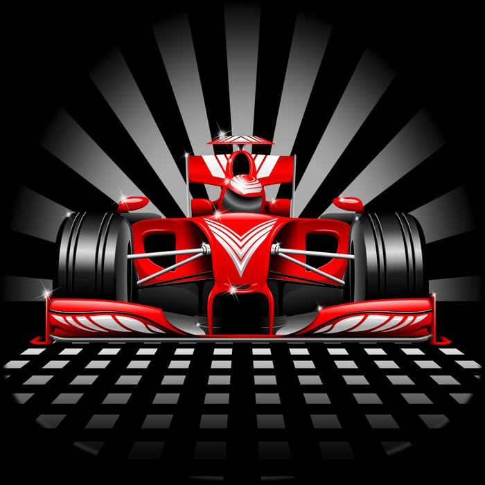 Formula 1 Red Race Car Wall Mural Pixers We live to change