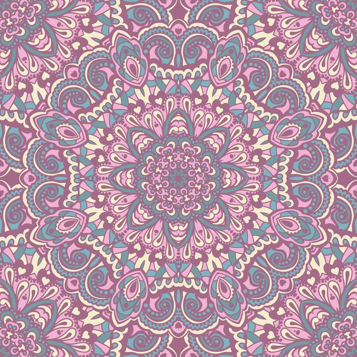 papier peint oriental seamless pattern fleuri pixers. Black Bedroom Furniture Sets. Home Design Ideas