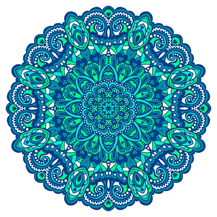 Flower mandala abstract element for design wall mural for Mural mandala