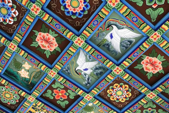Carta da parati decorazione su soffitto del tempio for Carta da parati per soffitto