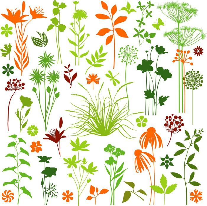 Sticker toutes les plantes pixers nous vivons pour for Toutes les plantes