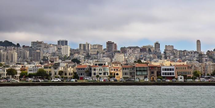 Vinylová Tapeta San Francisco výhled na město ze zátoky - Amerika