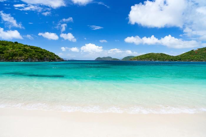 Vinylová Tapeta Krásné tropické pláže v Karibiku - Voda