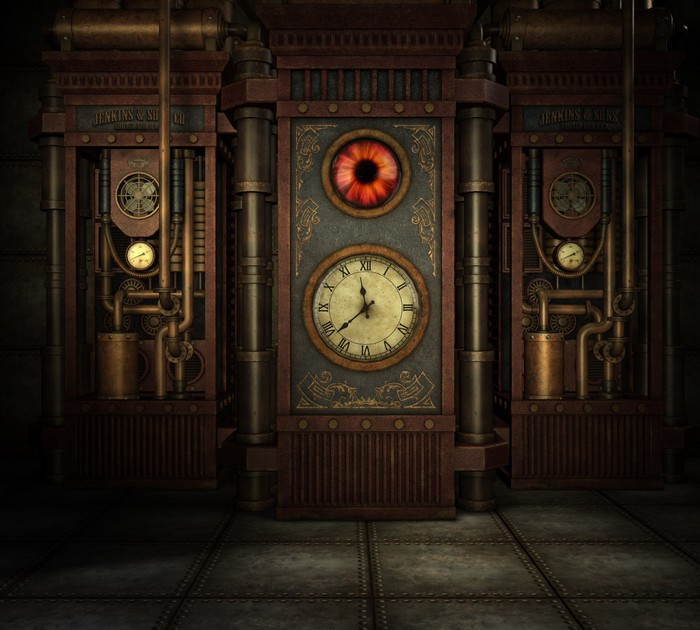 Steampunk Time Wall Mural • Pixers • We live to change