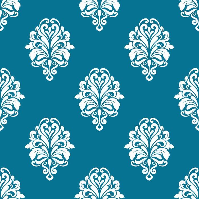 Vinylová Tapeta Květinový vzor bezešvé s bílými prvky - Pozadí