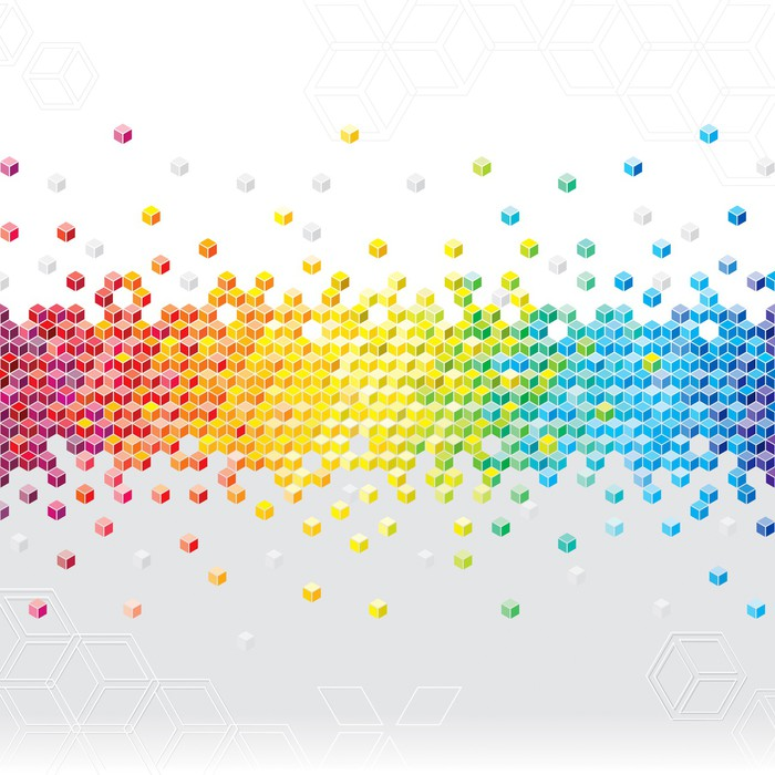 Vinilo pixerstick cubos de p xeles abstract parpadean fondo pixers vivimos para cambiar - Fotomurales pixel ...