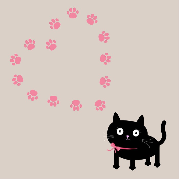 Vinilo Pixerstick El gato y la plantilla del marco del corazón ...