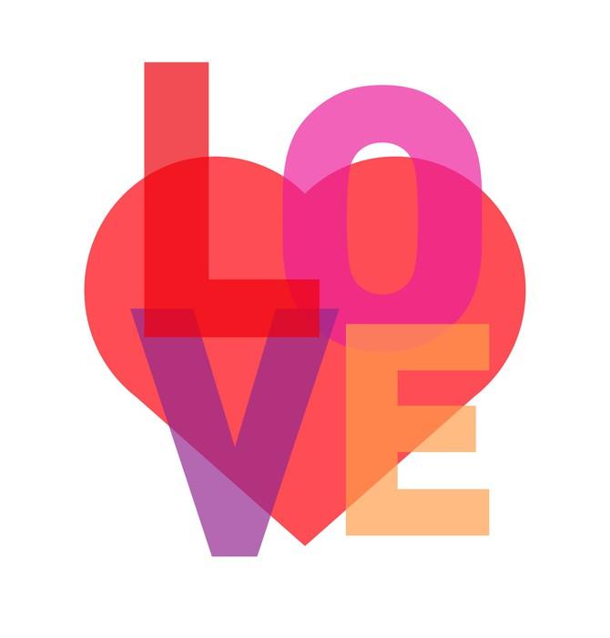 Vinylová Tapeta Love typografie - Témata