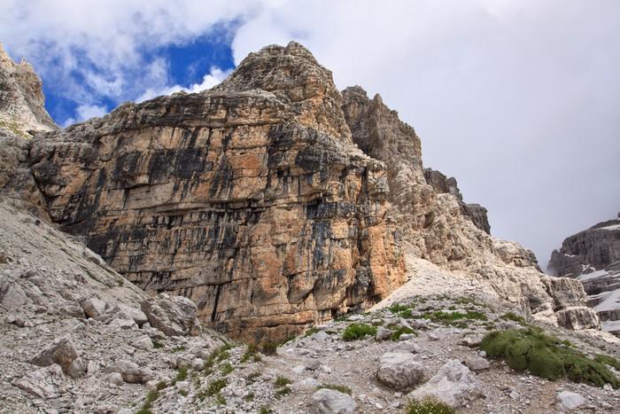Vinylová Tapeta Kámen v pohoří Dolomity v severní Itálii. - Evropa