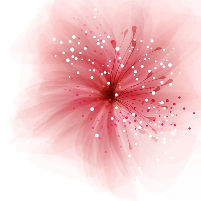 Vinylová Tapeta Vektor pozadí s květem - Pozadí