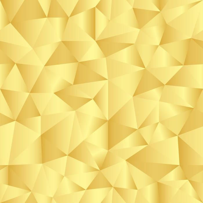 Vinylová Tapeta Bezproblémové vzorek s zlaté trojúhelníky - Prodej
