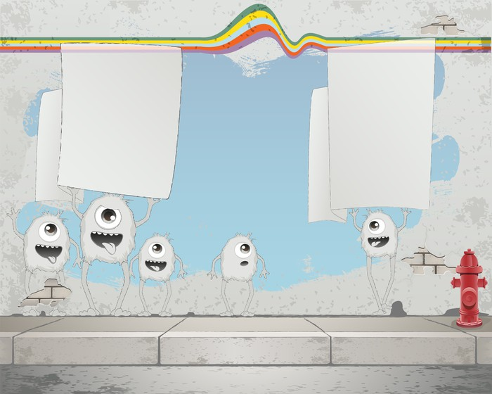 tableau sur toile street art fond pixers nous vivons pour changer. Black Bedroom Furniture Sets. Home Design Ideas