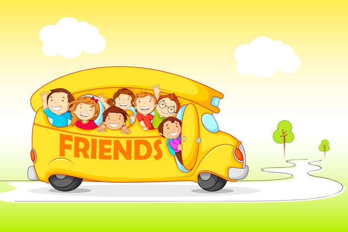 Children on Excursion for Friendship Day Wall Mural • Pixers® • We ...