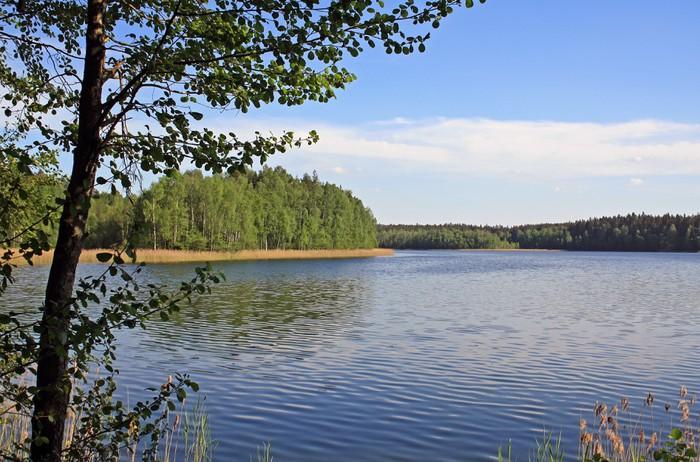 Vinylová Tapeta Lake v národním parku v Bělorusku - Voda