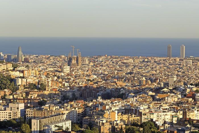 Vinylová Tapeta Barcelona skyline - Témata
