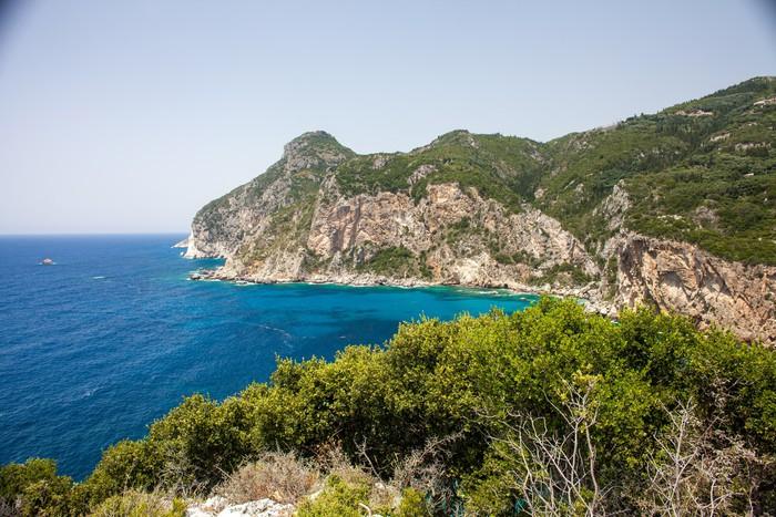 Vinylová Tapeta Velmi krásný ostrov Korfu, Řecko - Hory