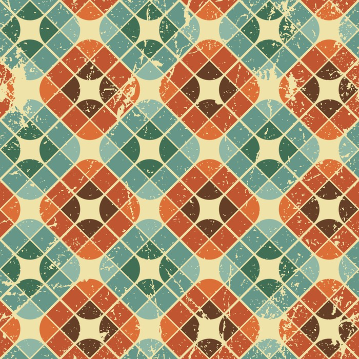 Carta da parati vintage piastrelle con texture grunge - Piastrelle vintage ...