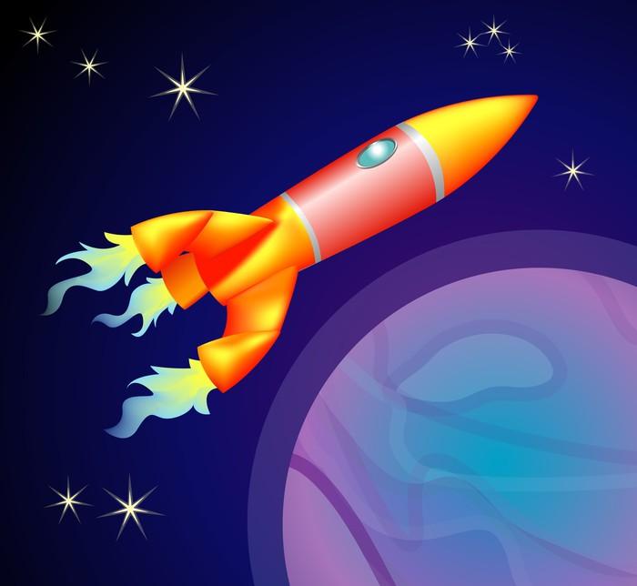 Vinylová Tapeta Rocket Space Ship - Doplňky a věci
