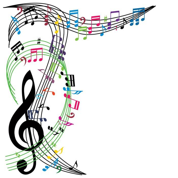 Fototapete Musik Noten Hintergrund, Stilvolle Musikalische