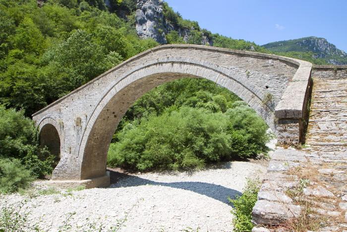 Vinylová Tapeta Starý kamenný most v Epiros v Řecku - Evropa