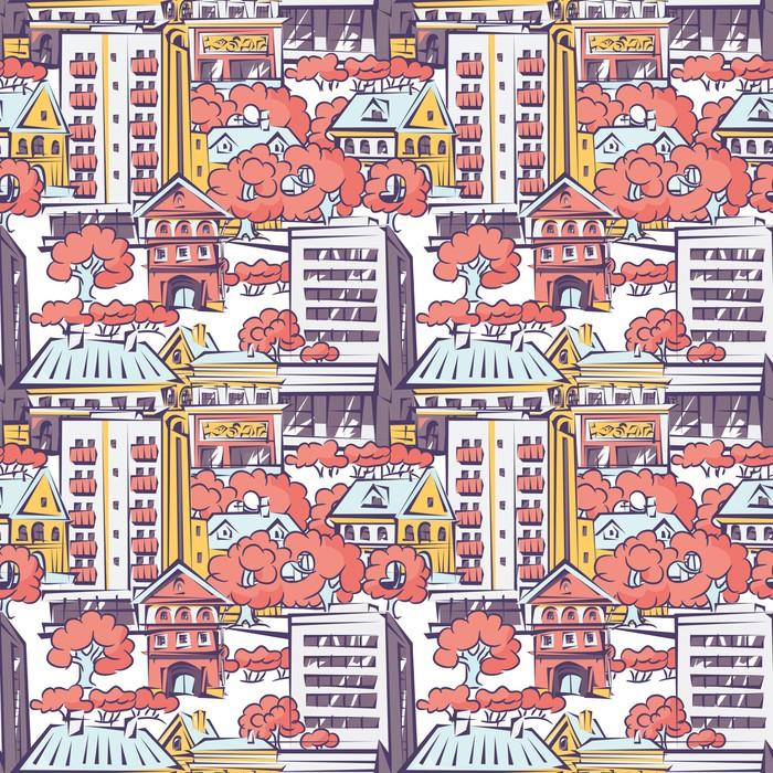 Vinylová Tapeta Jednotný vzor - Soukromé budovy