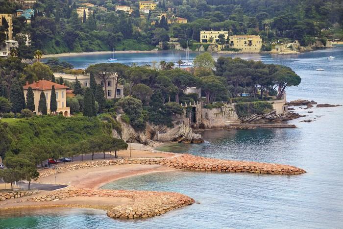 Vinylová Tapeta Pohled na luxusní letoviska Villefranche a záliv. Cote d'Azur - Evropa