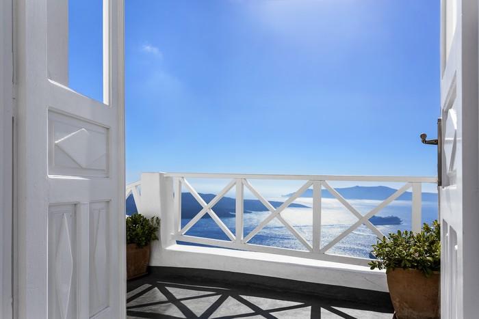 fototapete balkon ber dem meer pixers wir leben um zu ver ndern. Black Bedroom Furniture Sets. Home Design Ideas