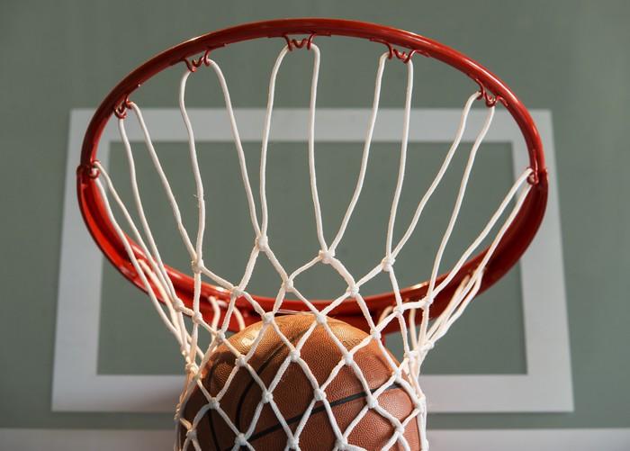 Vinylová Tapeta Basketbal gól, míček a čisté - Basketbal