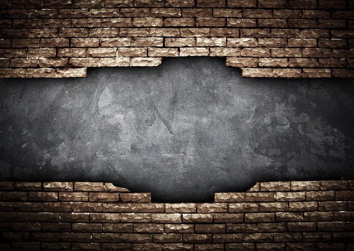 Vinilo Pixerstick Pared de ladrillos rotos • Pixers® - Vivimos para ...
