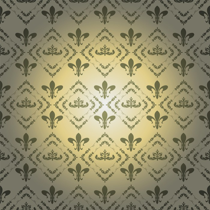 damask decorative wallpaper Wall Mural • Pixers® • We live to change