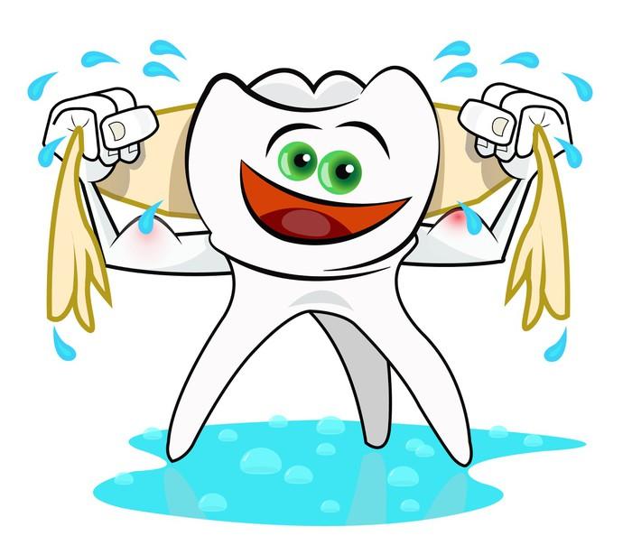 Fotomural Vector guiño diente sonriente feliz • Pixers® - Vivimos ...