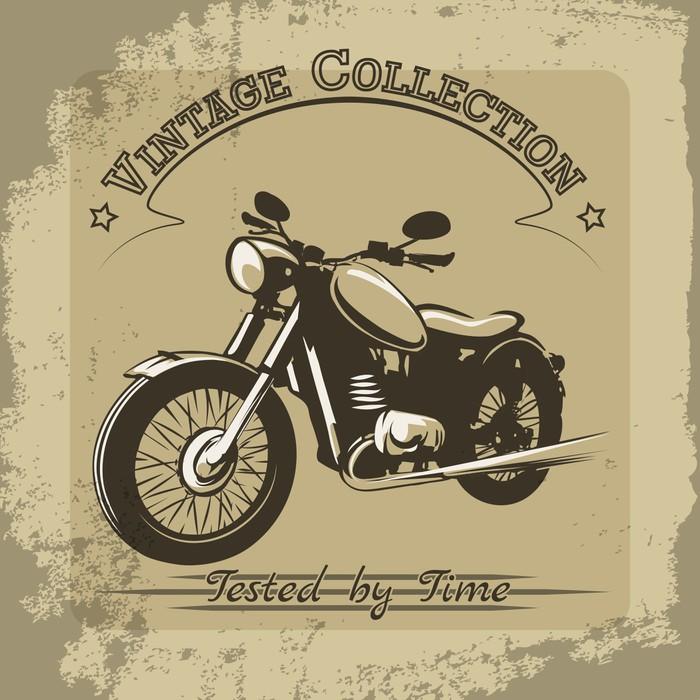 Vinylová Tapeta Vintage motocykl plakát - Styly