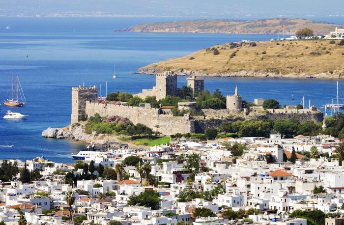 Vinylová Tapeta Pohled na přístav Bodrum během horkého letního dne. Turecká riviéra - Asie