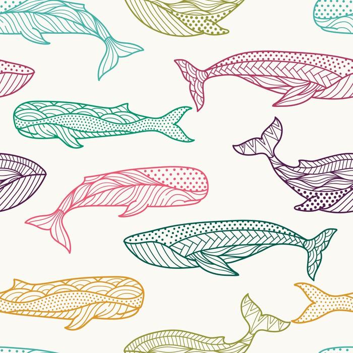 papier peint baleines seamless pixers nous vivons. Black Bedroom Furniture Sets. Home Design Ideas