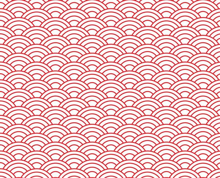 Vinylová Tapeta Červená vlna vzor - Pozadí