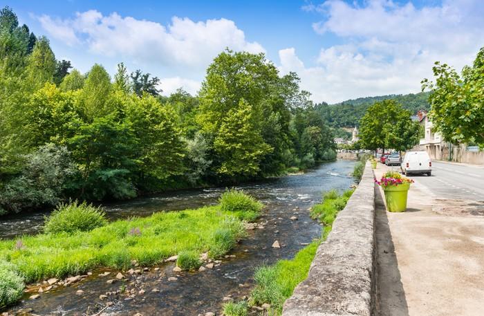 Vinylová Tapeta River Lot v Entraygues Sur Truyere, Aveyron, Francie - Evropa