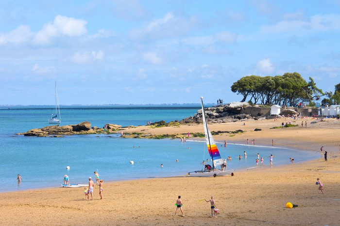 Vinylová Tapeta Francie> Vendée> Noirmoutier> Beach - Prázdniny