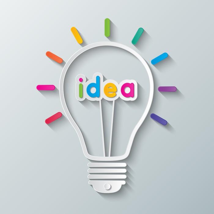 Vinylová Tapeta Idea žárovka - Prvky podnikání