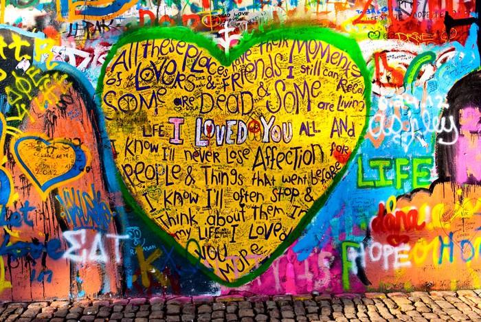 graffiti of heart with inscription \