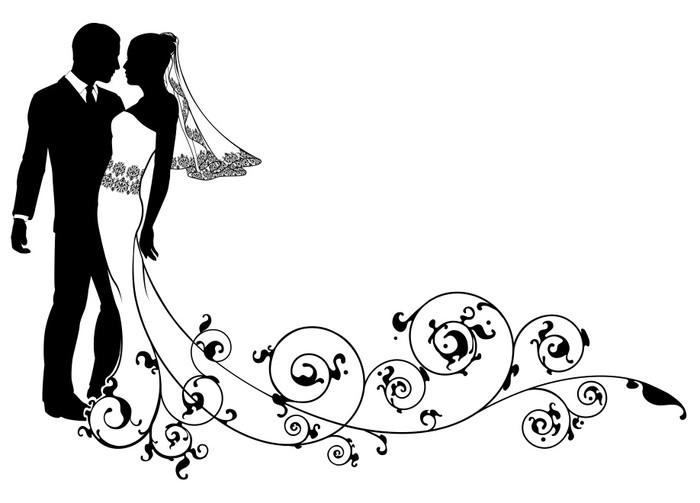 Naklejka pary m odej kwiatowy wz r pixers yjemy by for Sposa che corre