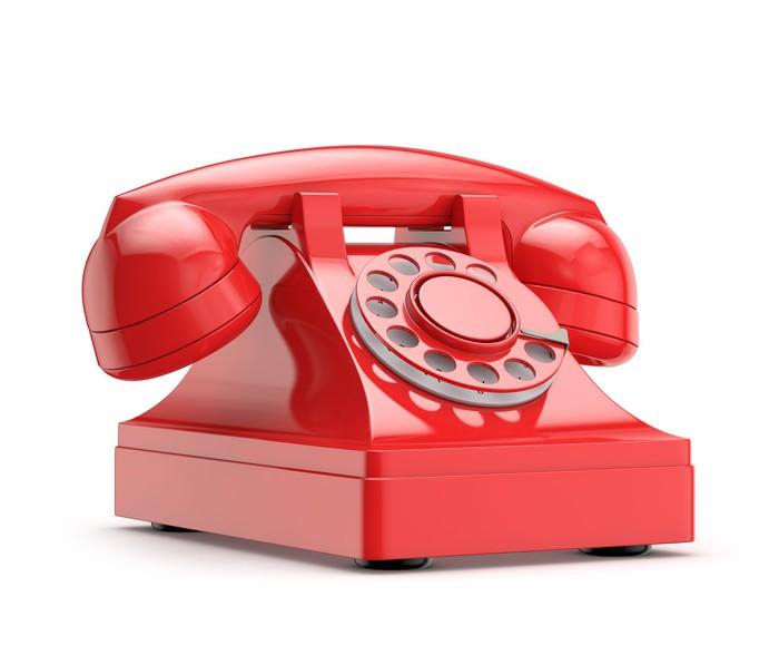 tableau sur toile r tro vintage t l phone rouge pixers nous vivons pour changer. Black Bedroom Furniture Sets. Home Design Ideas