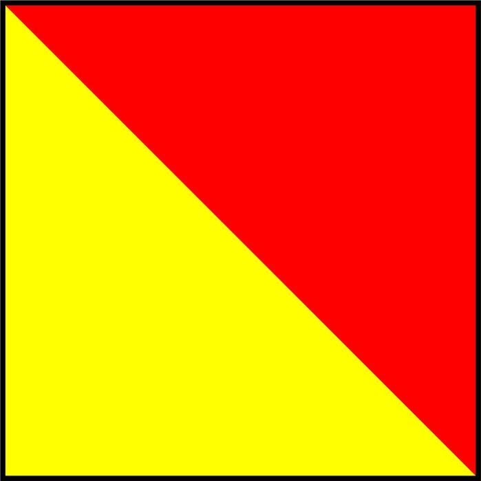 Vinylová Tapeta Mezinárodní námořní vlajka signál - Značky a symboly