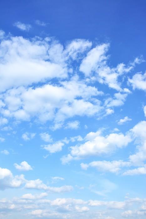 Vinylová Tapeta Modrá obloha s mraky - Pozadí