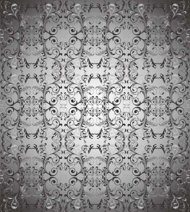 Papier peint Gris foncé vecteur de fond floral • Pixers® - Nous ...