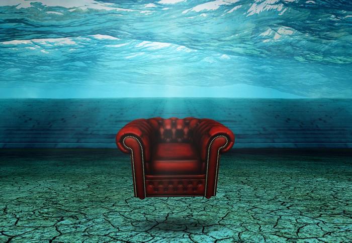 Vinylová Tapeta Ponořený Židle v ponořených Desert Ruins Plováky - Podvodní svět