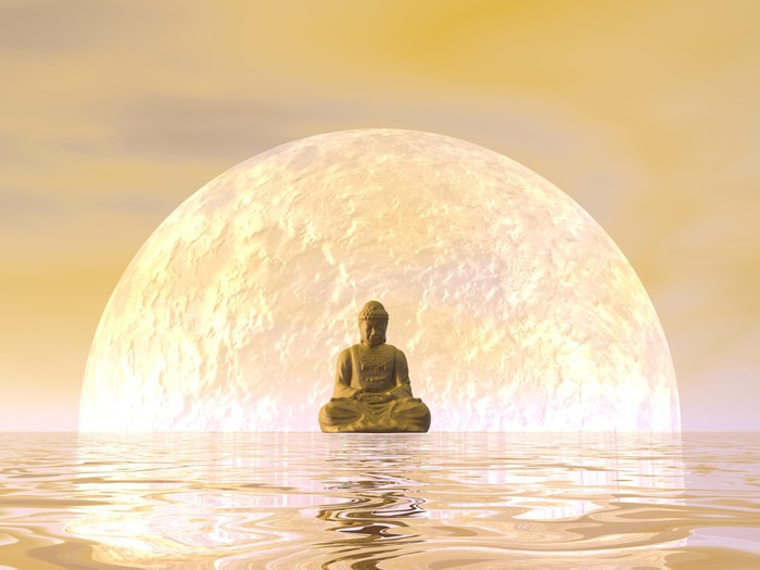 Buddha Meditation 3d Render Wall Mural Pixers 174 We