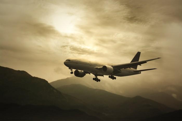 Vinylová fototapeta Big Passanger Plane - Vinylová fototapeta