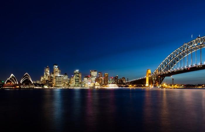 Vinylová fototapeta Skyline of Sydney v noci - Vinylová fototapeta